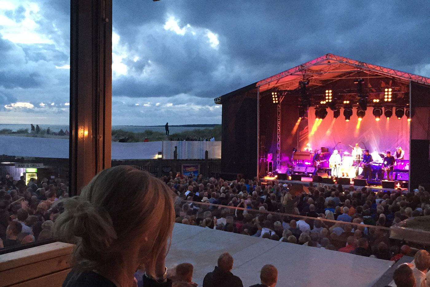 Konsert på Afterbeach i Tylösand Halmstad