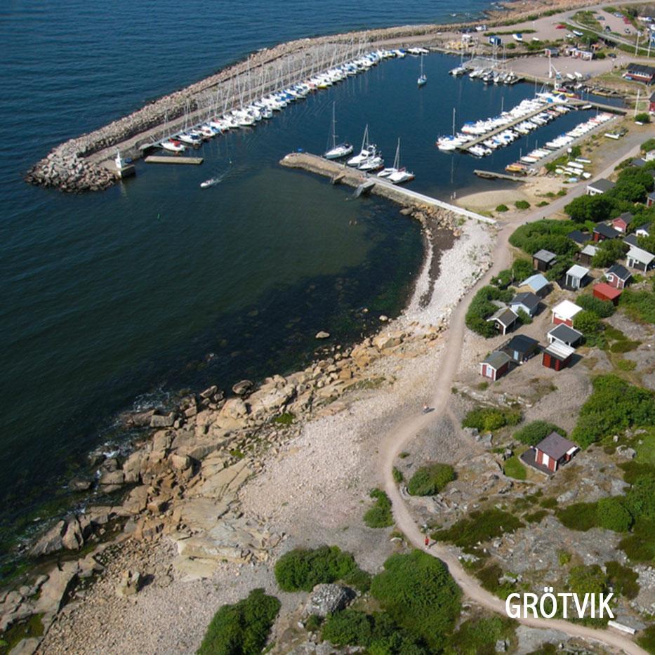 Flygbild över Grötvik
