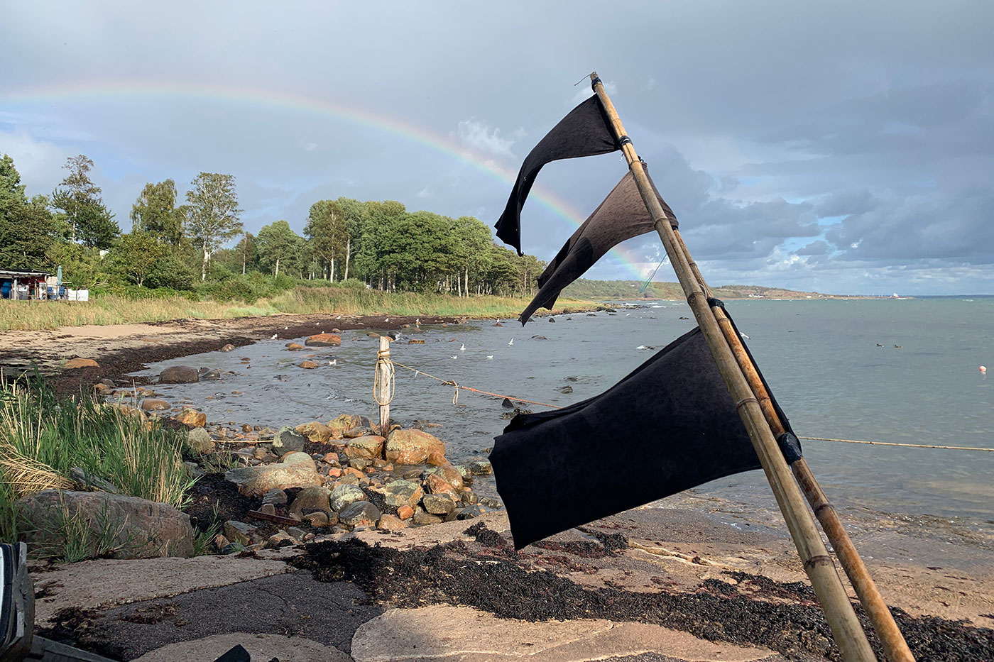 Görvik regnbåge över Sandhamn